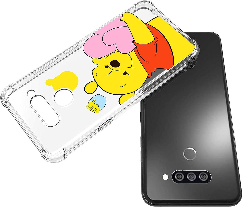 STSNano Case for LG Stylo 6 Fashion Cute Cartoon Soft TPU Cover, Heart Bear Animal Kawaii Designer Design Fun Clear Funny Protective Skin Slim Fit Ultra-Thin Bumper Teens Kids Cases for LG Stylo 6