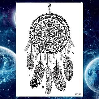 Zomer stijl tijdelijke tattoo stickers dames mannen rose bloem veer tattoo arm art tattoo wolf tribal leeuw-GLZ165