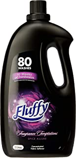 Fluffy Fragrance Temptations Concentrated Fabric Softener Conditioner Spice Allure Made in Australia, 2L