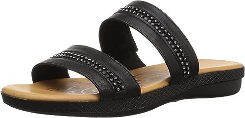 Woherren Dionne Flat Sandal, schwarz, 6.5 N US