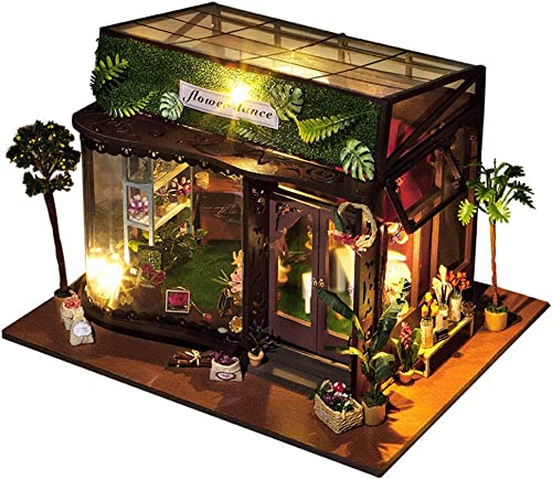 SOSAWeißIY Puppenhaus Holz Mini Handmade Kit Für mädchen Kabine M hen Dekoration Haus, Kreative Geburtstag Weißachten.