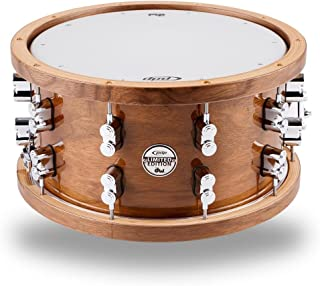 PDP by DW Limited Edition Dark Stain Walnut and Maple Snare with Walnut Hoops and Chrome Hardware 14 x 7.5 in.