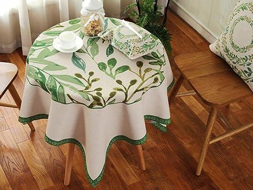 suministramos lo mejor DONG DONG DONG Manteles Paños de tela Paño de tabla de té Hogar Mantel de tela rojoonda Mantelería de lino de algodón Decoración del hogar Poliéster A prueba de polvo (verde) (Tamaño   140140cm (55.155.1in))  precios al por mayor