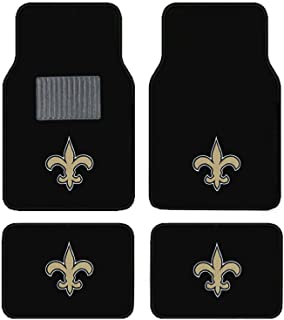 New Orleans Saints Embroidered Logo Carpet Floor Mats. Wow Logo on All 4 Mats.