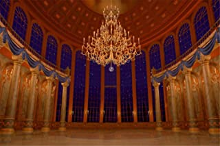 Photography Backdrop 7x5 Beauty and The Beast Palace Scene Backgrounds for Wedding Photo Booth Pictures Glitter Star Windows View Backdrops for Wedding Reception