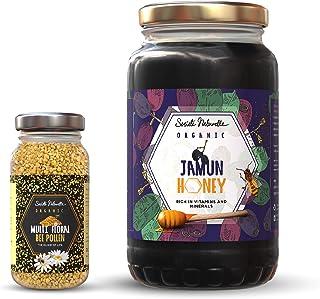 Societe Naturelle - Organic Jamun Honey - 1 kg & Multi Floral Bee Pollen - 125 GMS / Certified Honey / Rich in VIT. & Mine...