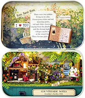 DBXMFZW DIY Dollhouse Kit Toys, Hand-Assembled Mini Villa Box Theater Model, DIY Miniature Doll House Wooden Furniture, 1:...