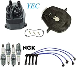 Tune Up Kit Cap Rotor Wire Plugs FIT Honda Accord L4; 2.3L 1998-2002