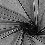 Fabulous Fabrics Tüll schwarz, Uni, 145cm breit – zum