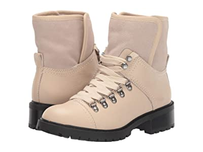 FRYE AND CO. Anise Hiker (White Waxy Full Leather/Suede/Shearling) Women
