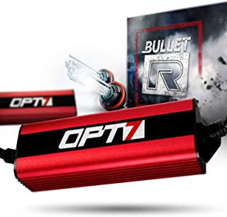 OPT7 Bullet-R H11 H8 H9 HID Kit - 3X Brighter - 4X Longer Life - All Bulb Sizes and Colors - 2 Yr Warranty [5000K Bright White Xenon Light]