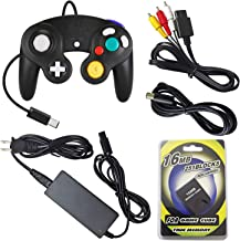 AreMe Gamecube Accessories Bundle - AC Power Supply Adapter, AV Cable, Wired Controller, Extension Cable and Memory Card for Nintendo Gamecube NGC System