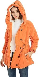Nipogear Women's Winter Warm Coat Hoodie Parkas Overcoat Fleece Outwear Jacket with Drawstring