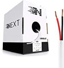 Next 14/2 Plenum Speaker Wire - 14 AWG/Gauge 2 Conductor - UL Listed in Wall (CL2P/CL3P/CMP) Rated - Oxygen-Free Copper (OFC) - 500 Foot Bulk Cable Pull Box - White