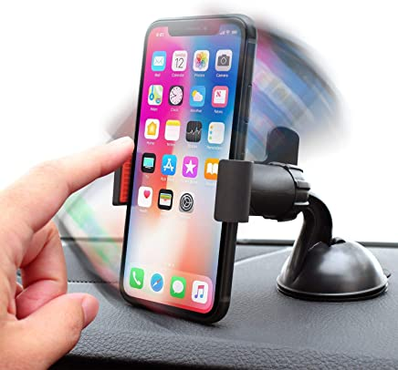 Insten Car Mount Long Arm Univeral Windshield Car Phone Holder Cradle Compatible with iPhone X//XS//XS Max//XR//8 Plus//8//7//7 Plus//6S Galaxy S10//S10 Plus//S10e//S9//S9+//S8//S8+//S7 Edge LG G6 /& More eForCity 2082876