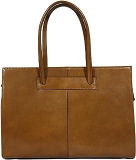 Womens Leather Business Bag/Laptop Bag/Briefcase, Carelli Italia Roma Taupe