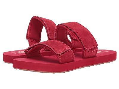 Vans Cayucas Slide ((Suede) Tango Red) Women
