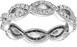 Myia Passiello Timeless Swarovski Zirconia Infiniti Anniversary Ring