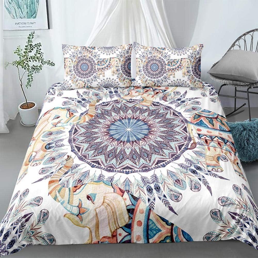 mart King Duvet Cover Bohemian Elephant 104x90 1 Award Bedding inch Comfort
