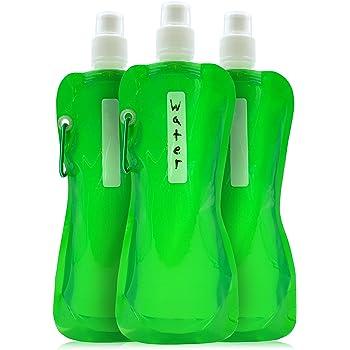 10L 15L 3 * 0.5L) Bolsa de Agua Plegable Reutilizable Dep/ósito de Agua para Senderismo Camping Picnic Travel BBQ SANTOO 6 PCS Bid/ón de Agua Plegable Port/átil(5L