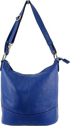 41acb6e2c4 CHLOLY - Sac cuir femme Vivos Italie - Bleu Roi