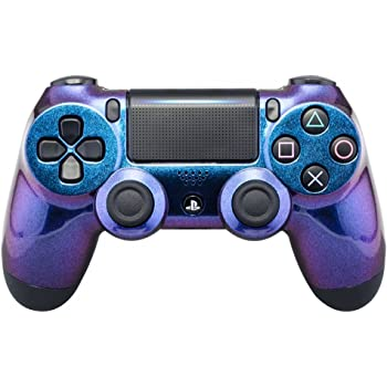 eXtremeRate Purple and Blue Chameleon Front Housing Shell Faceplate for Playstation 4 PS4 Slim PS4 Pro Controller Cuth-ZCT2 JDM-040 JDM-050 JDM-055 - Controller NOT Included