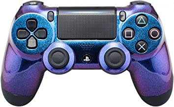 eXtremeRate Purple and Blue Chameleon Front Housing Shell Faceplate for Playstation 4 PS4 Slim PS4 Pro Controller (CUH-ZCT2 JDM-040 JDM-050 JDM-055)