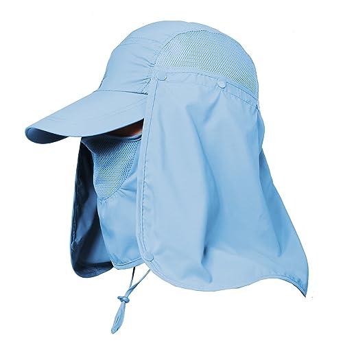 78f18ad2 Jormatt Women & Men Outdoor Sun Hat UV Protection Fishing Hiking Caps With  Face Neck Flap