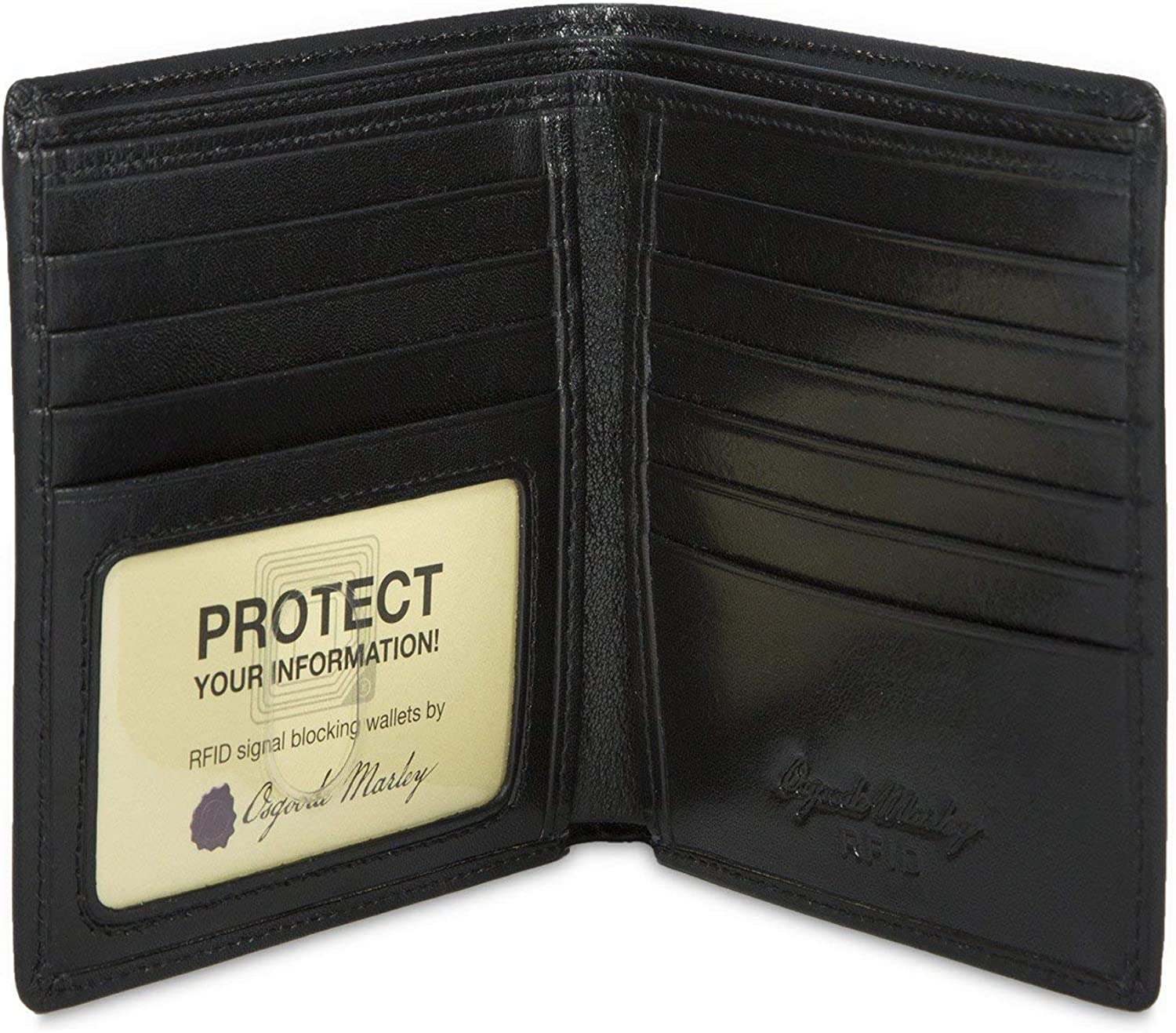 Osgoode Marley Sienna Collection ID Hipster Mens RFID Leather Wallet