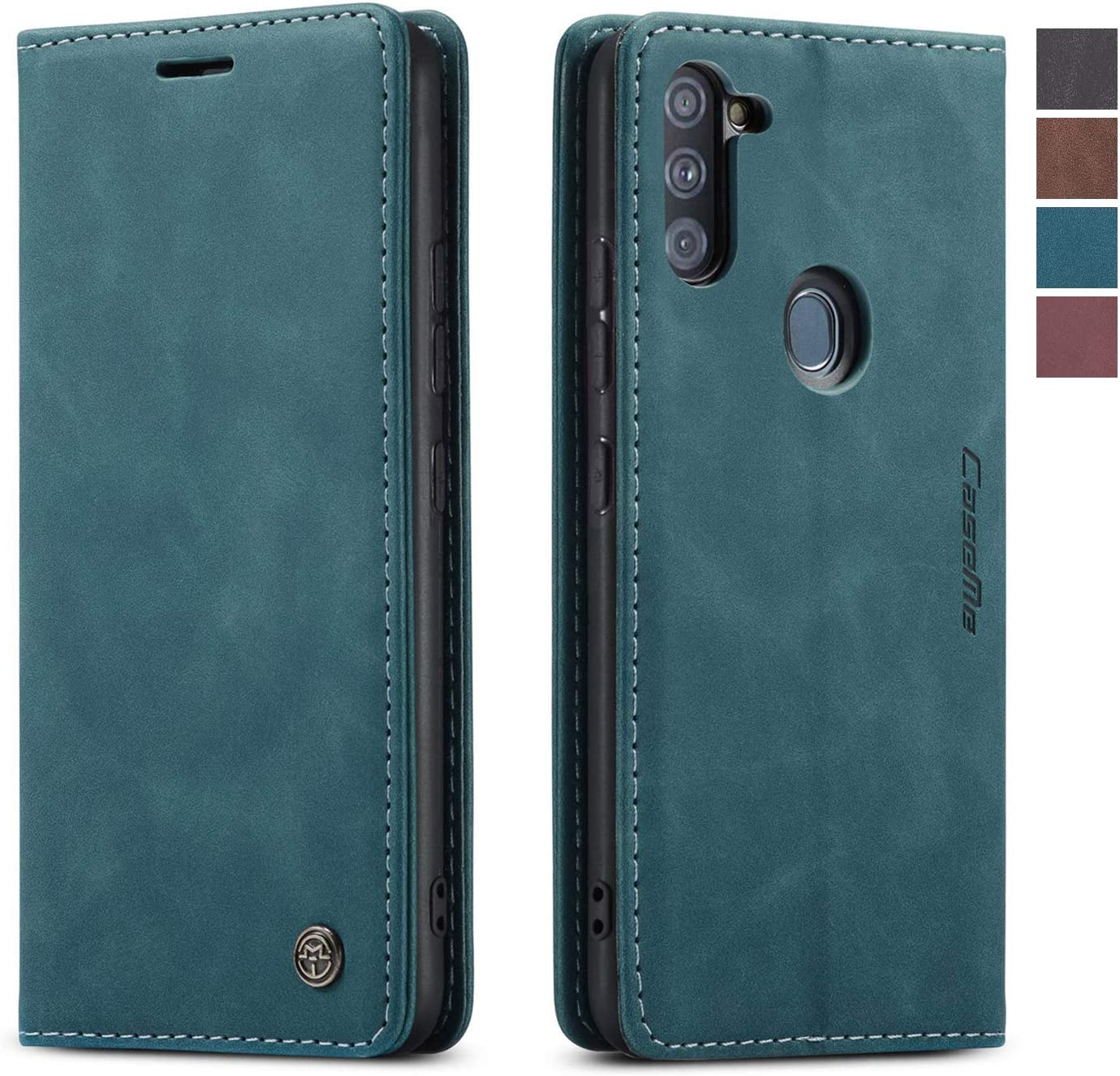 Samsung Galaxy A11 Case,Galaxy A11 Wallet Case with Card Holder,Magnetic Stand Leather Flip Case Cover for Samsung Galaxy A11(2020) 6.4 inch (Blue)