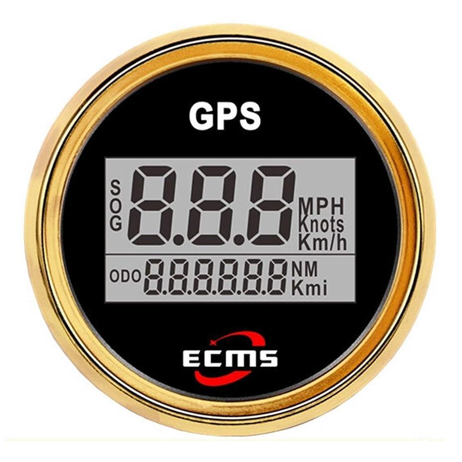 オプション傾いた学校の先生測定用品 オートバイ/海洋のボート/車の防水IP67のための52mm 2インチデジタルLCD GPSの速度計 高精度測定