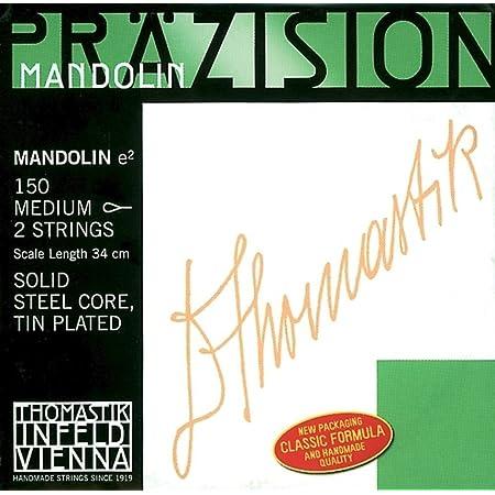 Thomastik-Infeld 153ST Mandolin (By Two) Steel Core, Chrome Flat Wound G, Stark (Heavy) Tension