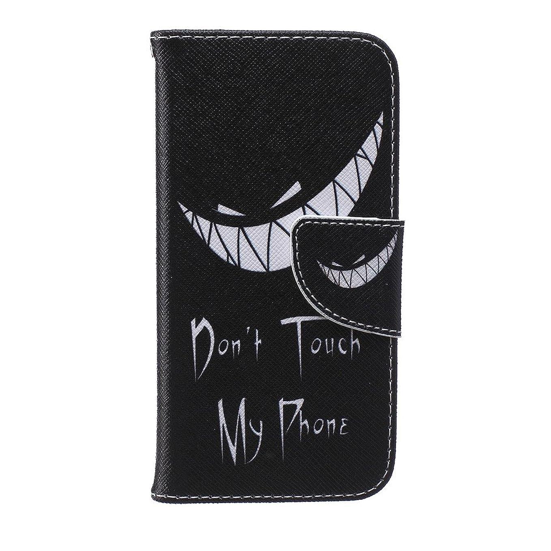 肌寒い暴徒説明的iphone 6 6S Wallet カバー ケース, Ougger(TM) Personality Cool 手帳型保護 [絵画シリーズ] ユニークパース PU レザーカード 収納 ポケット スロット スタンド カバー ケース