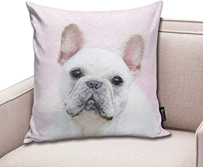 Zara-Decor French Bulldog Home Funda de cojín Decorativa ...