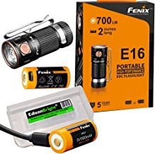 2 batteries rechargeable bundle: Fenix E16 700 Lumen CREE LED EDC/keychain Flashlight, 2 X Fenix batteries and EdisonBright battery carry case bundle