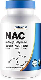 Sponsored Ad - Nutricost N-Acetyl L-Cysteine (NAC) 600mg, 120 Veggie Capsules - Non-GMO, Gluten Free, Vegetable Caps