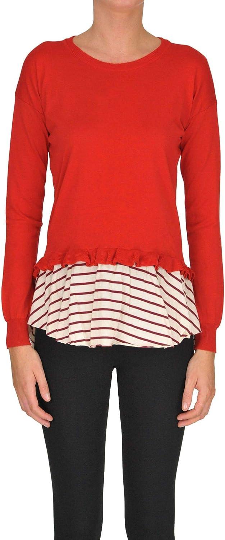 Guardaroba Women's MCGLMGP000005003E Red Cotton Sweater