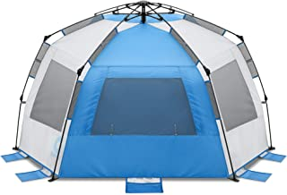 Gonex Pop Up Beach Tent for 1-3 Person, Rated UPF 50+ for UV Sun Protection, Waterproof Sun Shelters for Family Camping, F...