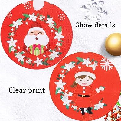 50pcs Ornamento de Navidad de Navidad de Madera Recortes Adornos de la Estrella del /árbol de Navidad del Copo de Nieve del mu/ñeco de Nieve de Madera Que cuelga decoraci/ón