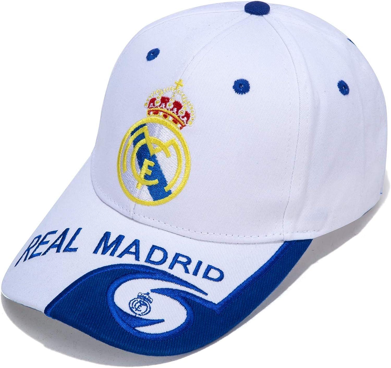 SSKKZH Real Madrid Can Adjust Embroidered White Baseball Cap