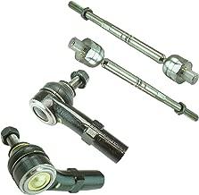 Inner & Outer Tie Rods LH & RH Kit Set of 4 for VW Jetta Golf Eos Tiguan CC Audi
