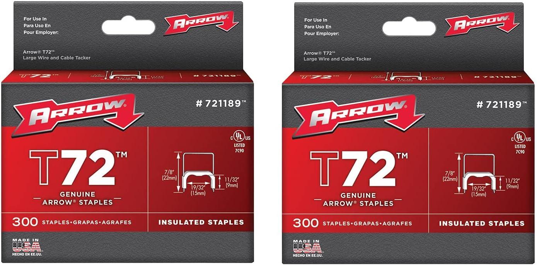 2 Kit Arrow Fastener Genuine 日本最大級の品揃え 1 至高 2-Inch Insulated Staple T72