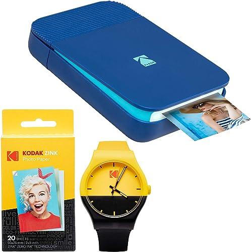 new arrival KODAK 2021 Smile Instant Digital outlet sale Printer (Blue) Watch Bundle online