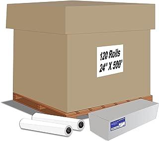 "Alliance Paper Rolls, Bond Engineering, 24"" x 500', 92 Bright, 20lb - 120 Rolls Per Pallet with 3"" Core"