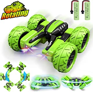 Birthday Gifts for 6-10 Year Old Boys Girls Remote Control Car for Kids RC Stunt Cars Trucks RC Crawler Off Road 360 Degre...