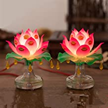 PPCP Buddhism Supplies Holy Lotus Lamp Exquisite Veilleuse Solemn Buddhist Ceremony Worship Buddha Lamp Buddhist Temple De...