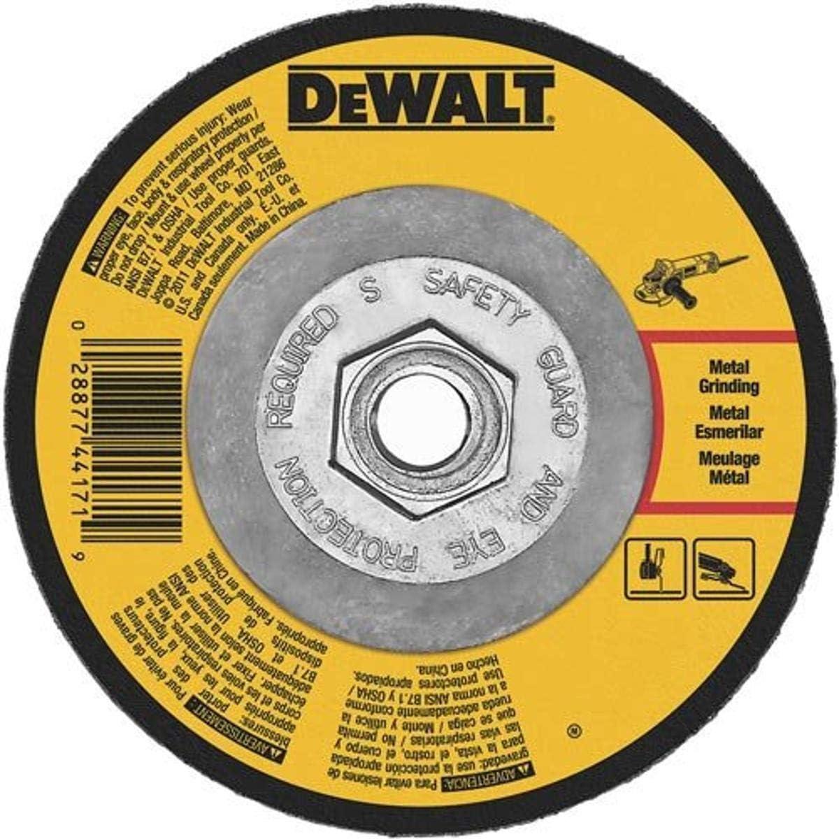 DEWALT DWA4512H Los Angeles Mall 11 Brand Cheap Sale Venue Metal Grinding Wheel x 1 8-Inch 5 8 5-Inch