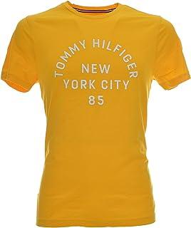 Tommy Hilfiger MW0MW10468 Jersey Hombre Amarillo M: Amazon