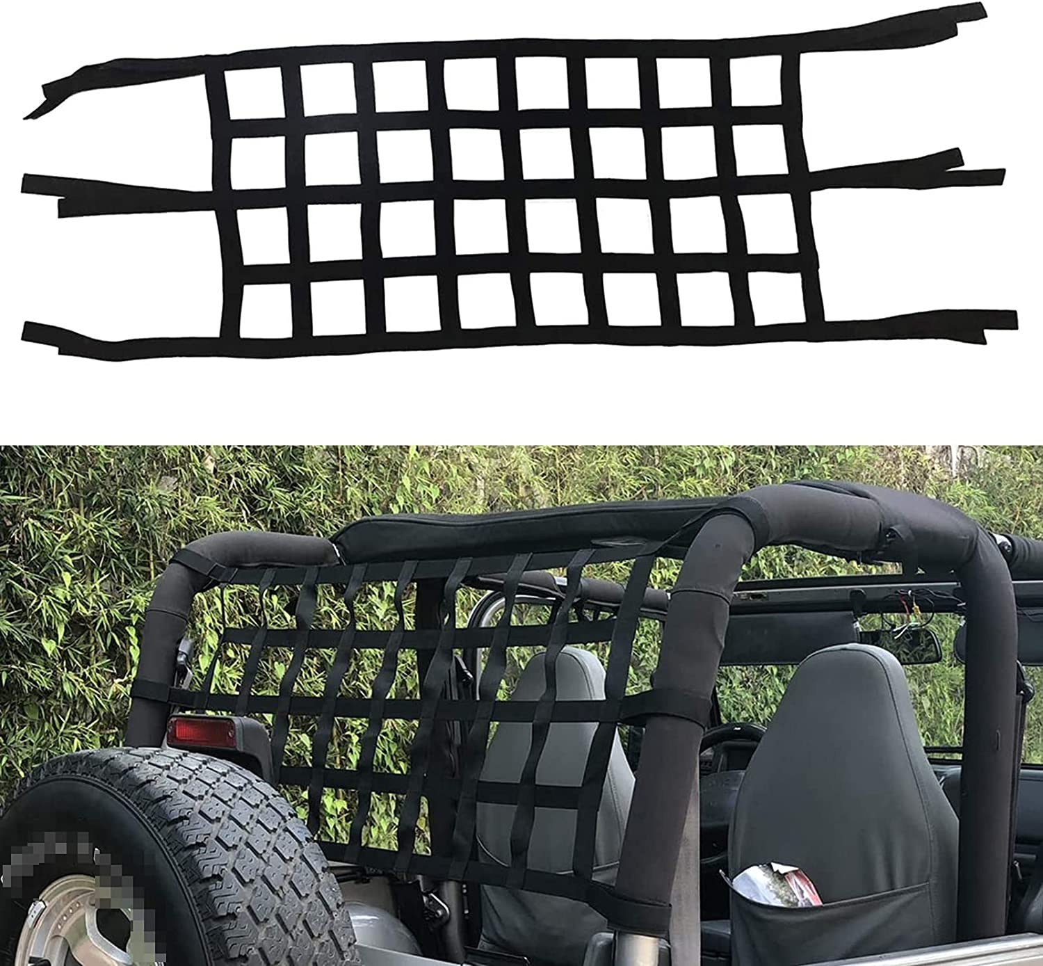 YMXBHN Mesh Cargo Roof Net Anti-roll Inventory cleanup selling sale Special price for a limited time Hammock Veh Off-Road