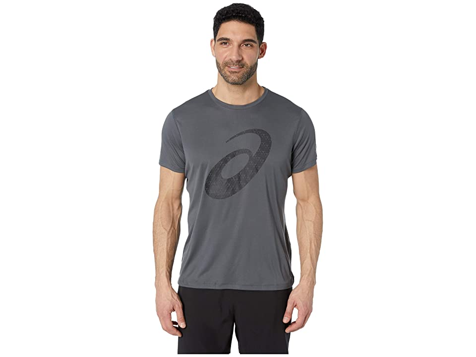 ASICS Run Silver Short Sleeve Graphic 3 Top (Dark Grey) Men